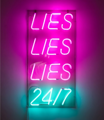 Special offer (lies), 2010 Paolo Fumagalli Noen and plexiglass 45 x 90 x 7cm