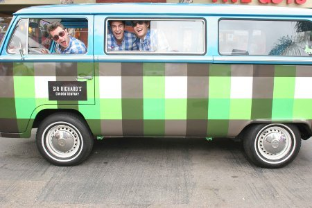 "lespiritdesolidarite:  Meet Lucy. She's a plaid, 1971 Volkswagen ""condom bus,"" and the esteemed emissary of Sir Richard's, a socially responsible condom company. This fall, she'll be visiting college campuses around the West Coast, spreading the company's message that ""safe sex is a basic human right."" If all goes well, she'll make condoms more fun in the process. Since its founding, Sir Richard's has made it clear that they are not just another condom company. The condoms are vegan, the branding irreverent. And they've adopted the Toms buy-one-give-one model to address the condom shortage in the developing world: every time you buy a Sir Richard's condom, the company sends one to community organizations like Partners in Health in Haiti. This fall, Sir Richard's plans to launch an envoy program, enlisting student representatives to engage their peers on college campuses in the company's social mission. ""College students are going to be arguably our biggest advocates,"" says Mia Herron, Sir Richard's director of marketing and communications. ""And they happen to be the most sexually active."" Participating students will scout events on campus that are specific to sexual health and help get the word out about Sir Richard's work. Lucy will be on hand to support the envoys as needed, so look out for the condom-slinging bus on a campus near you. ""Doing good never felt better,"" as Sir Richard's slogan says."