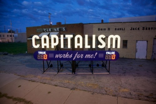 laughingsquid:  Capitalism Works For Me! True/False