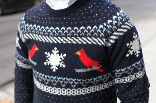 Gant by Michael Bastian Fairisle Cardinal Crew. Dandy as hell!
