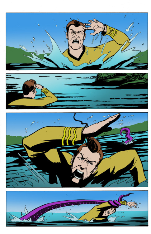 trekart:  (via Kirk's Escape Page 4 Colors by ~TroyHoover on deviantART)