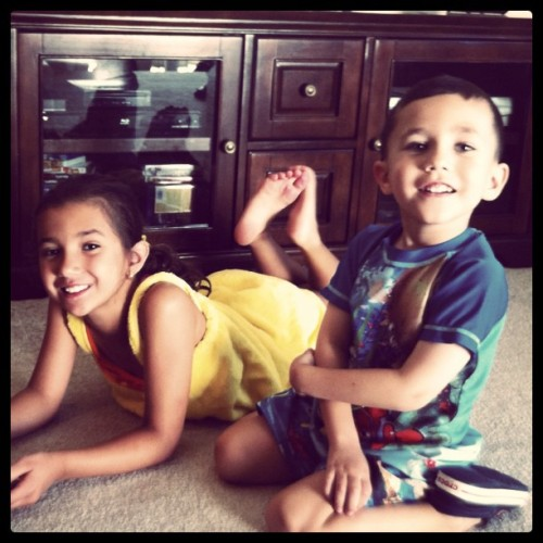My little loves….. Growing up fast. (Taken with instagram)
