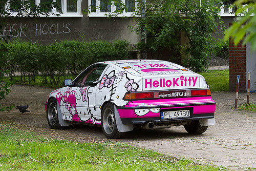 Hello Kitty Honda CRX