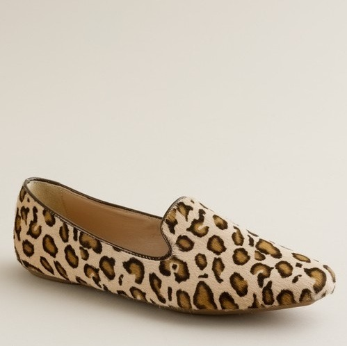 glamour:  Flat. Leopard Print. Loafers. Could there be a better combination? Darby Calf Hair Loafers, $275 at J.Crew