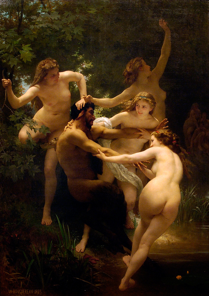 Nymphs and Satyr (1873) by Bouguereau