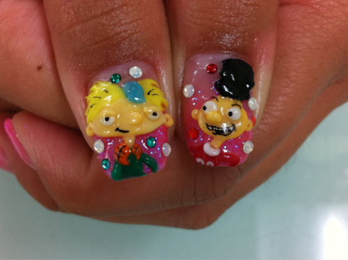 My Hey Arnold! Nails! :]