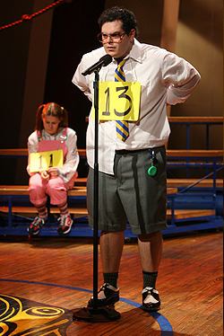 Josh during The 25th Annual Putnam County Spelling Bee.