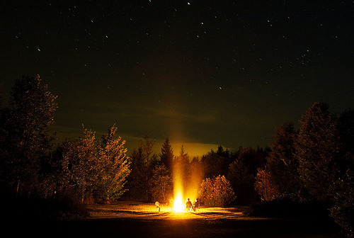 salveo:  Bonfire Long Exposure (by Dan Cronin^)