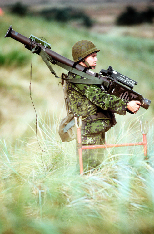 Danish soldier holding the FIM-92 Stinger