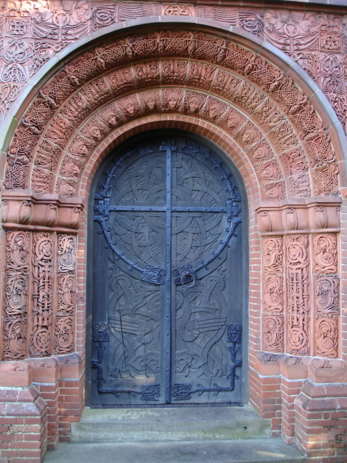 dazzlingagony:  Watts Mortuary Chapel Door located in the village of Compton in Surrey photography by Susan Knights, 2006.