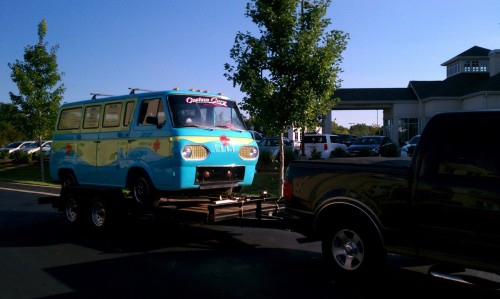 The scooby and the gang were in the hotel next to mine!