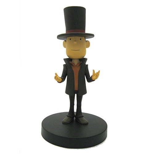 Prof. Layton Bobblehead Vehemently Agrees This six inch tall bobblehead of Professor Layton would look pretty schnazzy on the dashboard of your Mystery Mobile. Or your desk. Your call. You can get it from Ningyoushi for $30. Via