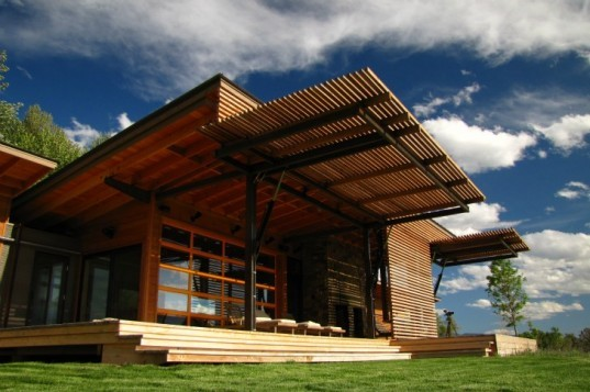 A net-zero home that uses a solar PV system and a geothermal heat pump.