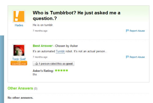 danisnotsocoollike:  allaboutmolly:  gaaraofsuburbia:  tumblrbot:  THERE'S NOTHING AUTOMATED ABOUT ME, MEATBAG.  WAIT WHAT  MY WHOLE WAY OF THING HAS JUST BEEN STAMPED INTO THE GROUND  I'M CRYING I CHECKED IT TUMBLR BOT IS A PERSON HELP I CAN'T BREATHE  GREATEST PLOT TWIST ON TUMBLR