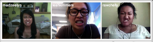 Tinychat with Kimee and Richelle. (: