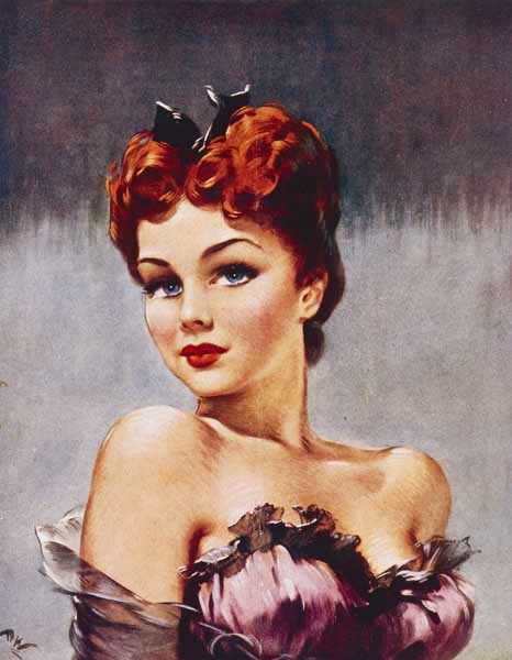 vintagegal:  art by David Wright 1940's