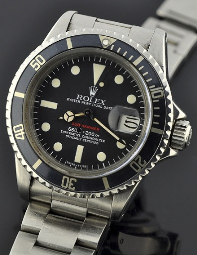 Rolex Submariner Red 1680 | WatchesToBuy Um, yes please? Everyone knows my birthday is coming up next month, right? :) Click here for more Submariner goodness.