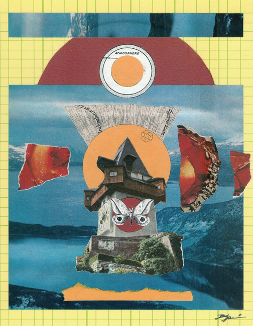 'You Must Keep the Beacon Lit for Those Who Will Follow' - Collage on Board 2011 http://society6.com/hoopandstick http://www.facebook.com/hoop.and.stick.art