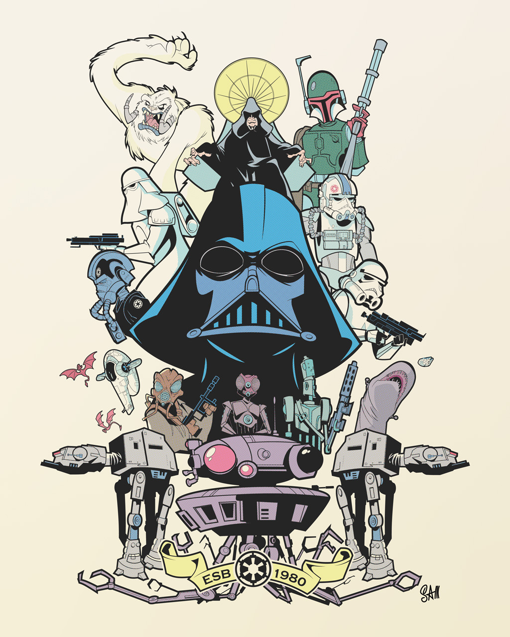 "xombiedirge:  The Power and Glory by Sam Fout 17"" X 22"" Print, S/N Edition of just 8. Available HERE"