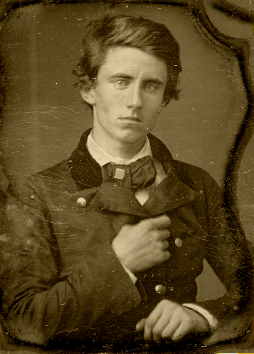 mydaguerreotypeboyfriend:  Benjamin Piatt Runkle, age 21, c. 1857.  Union general and as the founder of the Sigma Chi fraternity, the original frat boy. Submitted by dynamoe