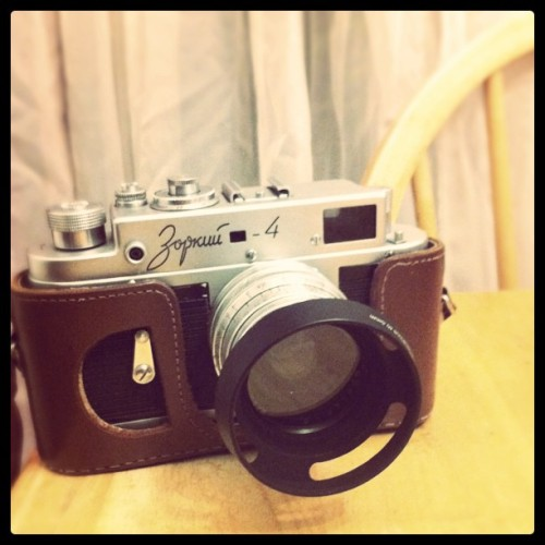 New lens hood for my baby! #kmz #zorki #Russian #rangefinder #camera (Taken with instagram)