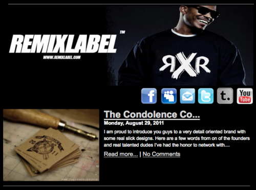 thecondolenceco:  TCC on RemixLabel.com