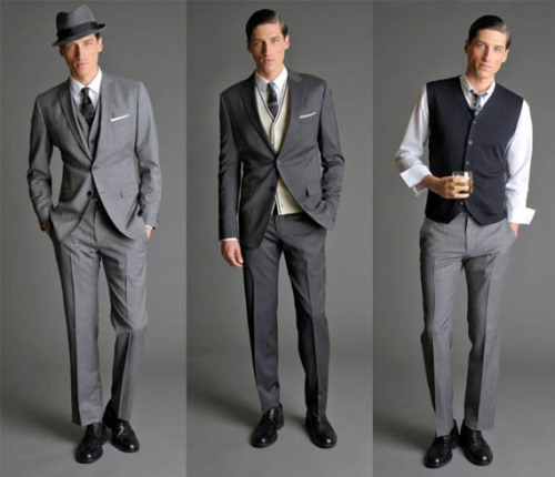 gonna date any gentleman that can pull this off. i swear, i'm making a checklist of how to create a personal lifestyle that fits this era (at least the fashion and downing cocktails without getting sloppy)  neumodernamerican:  (via Banana Republic Mad Men Collection)