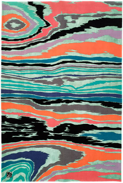 We want this glorious rug in our house! #art #pattern #textiles  I present to you the 'Bois rug' by Jamie Drake for Roubini.