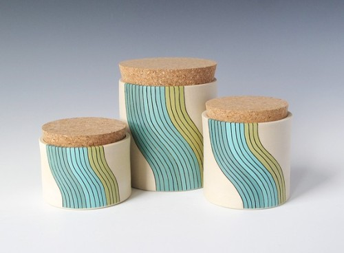 Cork jars by paulova on Etsy.