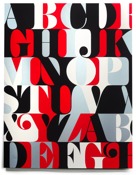 Caslon alphabet prints gone in an hour More typography inspiration. posted byW.A.T.C. // Facebook // Twitter // Google+