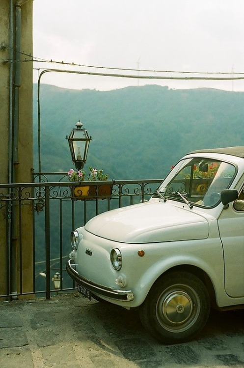 | ♕ |  FIAT 500 - Montalbano, Sicily  | by © jellicle_kitten | via ysvoice