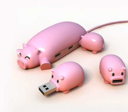 Three little pigs USB