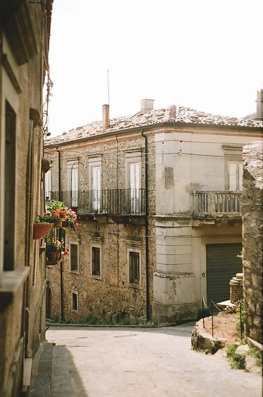| ♕ |  Hillside houses - Montalbano, Sicily  | by © jellicle_kitten