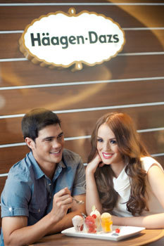 @PhilYhusband with Georgina Wilson for Haagen-Dazs