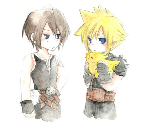 Cloud, Squall and chocobo