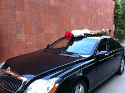 Planking on a Maybach!