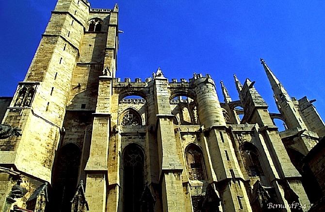 | ♕ |  Cathedral sky - Narbonne, France  | by © BernardP34