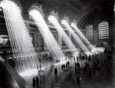 impossible-birds:   New York City Grand Central Terminal, 1934. The light no longer streams in like this any more because the buildings surrounding the station are too tall.