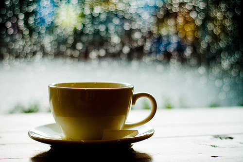 Nothing quite like a cup of coffee on a rainy day