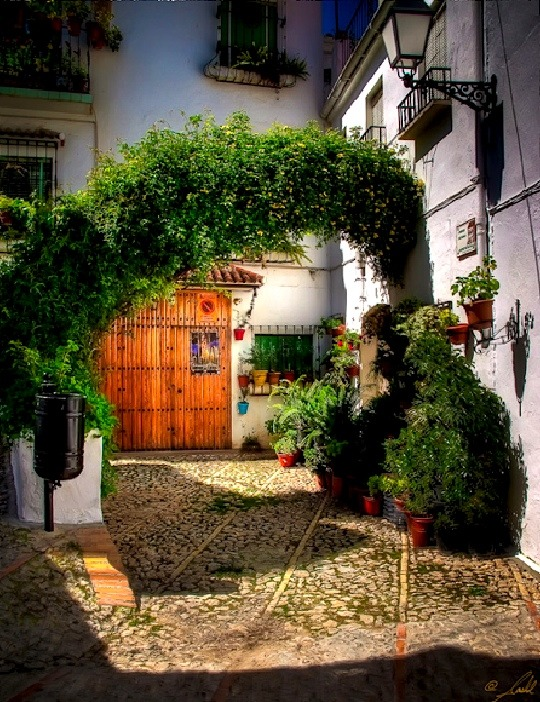 | ♕ |  entryway in Zuheros - Andalusia, Spain  | by © Sashol