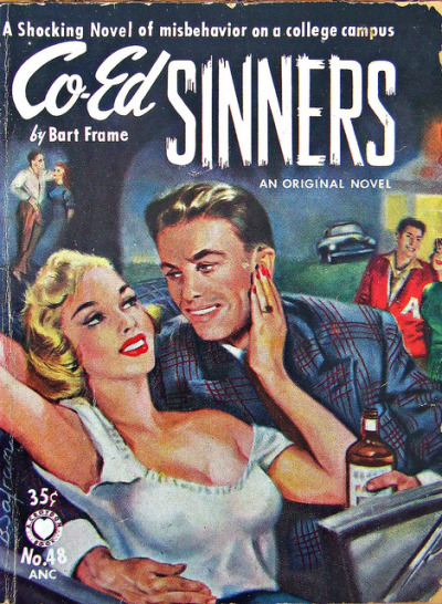 Co-Ed Sinners - Croydon Books - No48 - Bart Frame - 1953. by MICKSIDGE on Flickr.