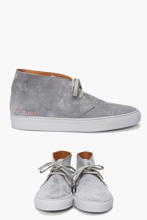 onemanshoe:  Common Projects Standard Chukka. Always love gray.