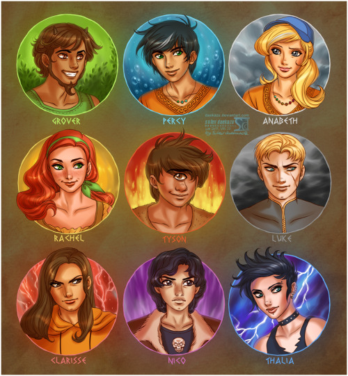 Percy Jackson CAST by *daekazu
