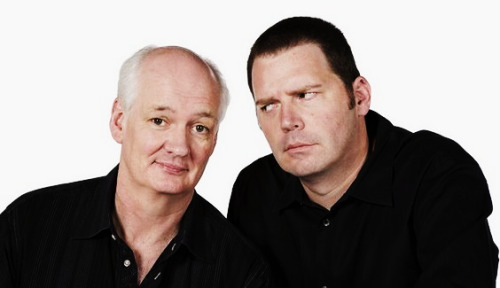 "Colin Mochrie and Brad Sherwood, two stars of the longrunning television show ""Whose Line Is It Anyway?"" attended Jubilee and even tried their hand (or, more accurately, their feet) at the log rolling competition.The pair were filming the pilot for a proposed new television show in which they compete in unusual feats of skill and daring across the country. The loser wins a booby prize. In this case, Mochrie dunked himself first during birling. He had to dress up in chaps, a hard hat, and was blasted with an explosion of sawdust as a result.There's no date set for when the pilot might premiere. Ooooohhh I do hope this gets aired! Sounds freakin' hilarious! We'll do our best to keep you guys posted. =)"