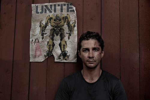 theoisjonesing:  Shia LaBeouf by Robert Zuckerman on the set of Transformers: Dark of the Moon.