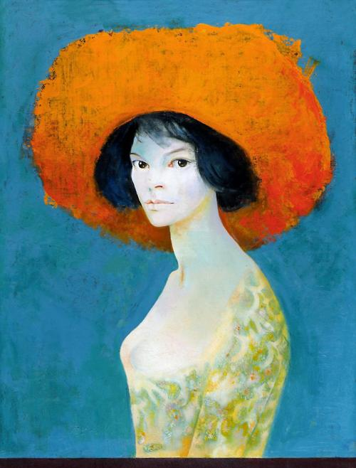 i12bent:  Leonor Fini: Self-Portrait with Red Hat, 1968