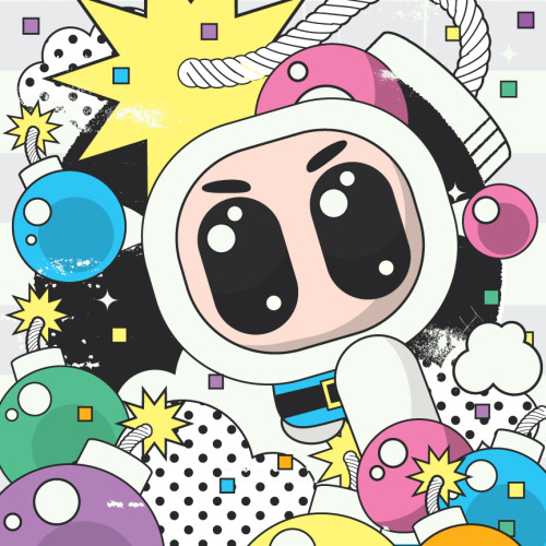Kali Meadows' totally rad Bomberman pop-art! (Via The Autumn Society)