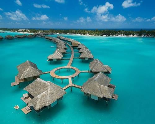 In My Site: Four Seasons hotel in Bora Bora, Tahiti.