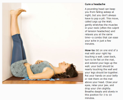 Yoga pose of the week : Help cure your headache