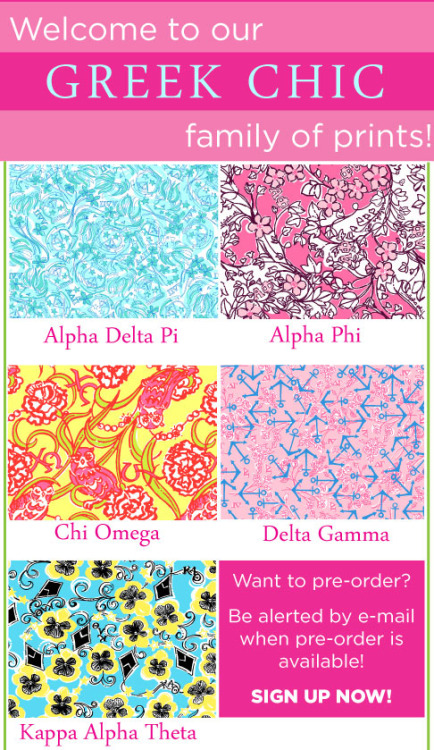 yoursororitysister:NEW LILLY SORORITY PRINTS!!!!!